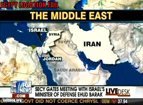 Geography Fail Fox News moves Egypt to where Iraq was.