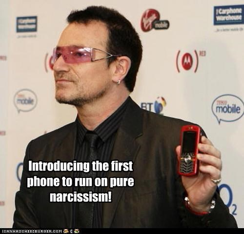 bono,ego,narcissism,phones,u2