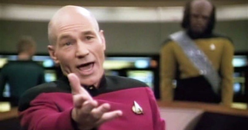 Collection of Annoyed Picard memes, Star Trek, Captain Jean Luc Picard.