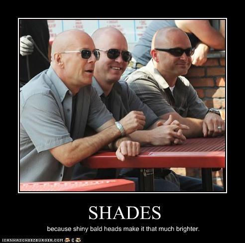 bald men bruce willis movies sunglasses - 2479918848