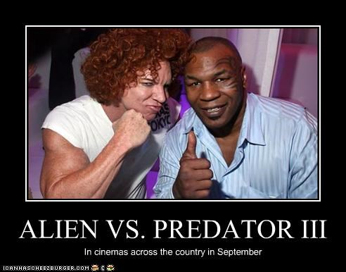 alien vs predator,boxers,carrot top,comedian,mike tyson