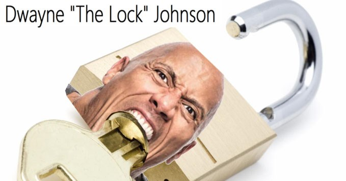 Funny collection of memes about The Rock and words that rhyme with his name.