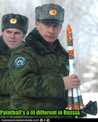 paintball president prime minister rocket russia Vladimir Putin vladurday - 2481402112