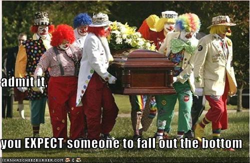clown,funeral