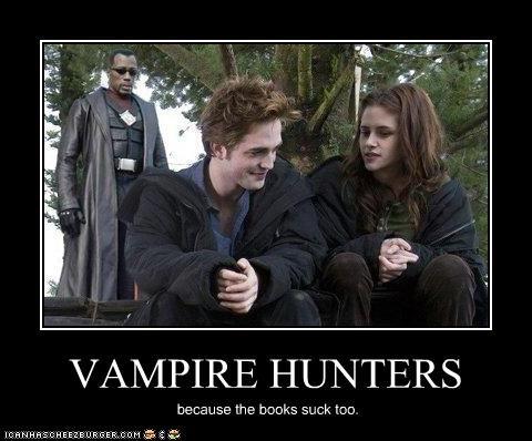 VAMPIRE HUNTERS because the books suck too.