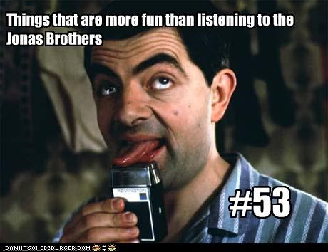 jonas brothers mr-bean Music rowan atkinson teeny bopper - 2485335296