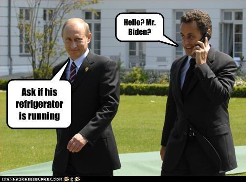 democrats joe biden jokes Nicolas Sarkozy president prime minister vice president Vladimir Putin - 2491283712