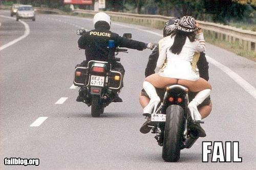 ass,au natural,bottom,butt,clothing,motorcycle,police,protection,ride,woman