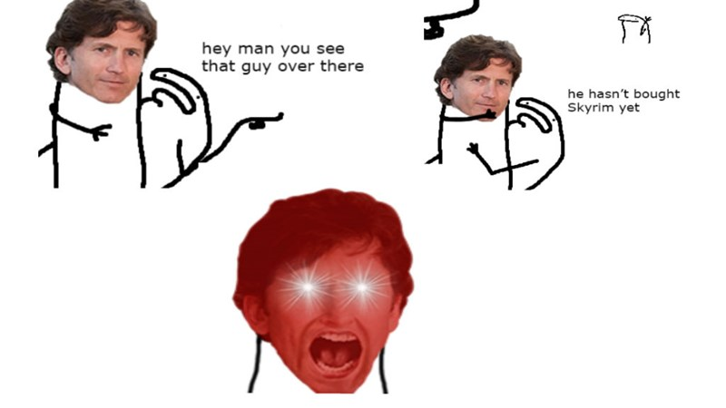 Funny collection of Hey Man You See That Guy OVer There memes, a lot of them have to do with anime, gaming, video games, skyrim, nintendo, xbox,.
