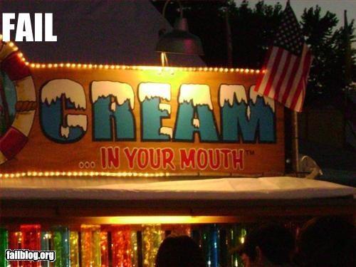 Carnival cream fair food innuendo snacks suggestive vendors - 2495961856