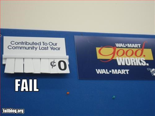 charity community g rated money nothing Walmart wal mart - 2497600256