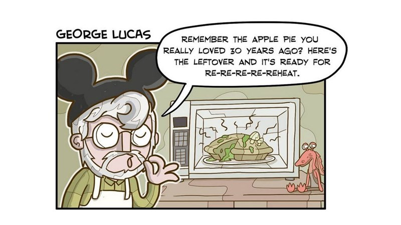 Funny collection of web comics or cartoons imagining famous directors as chefs, for example, Steven Spielberg, Michael Bay, Christopher Nolan and George Lucas.