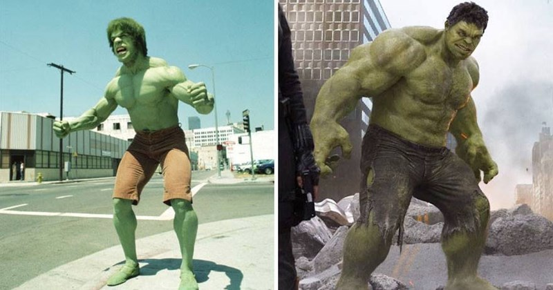 Funny list comparing superheroes then and now from Marvel and DC comics.