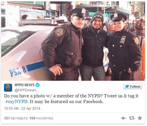 twitter hashtag NYPD police - 250373
