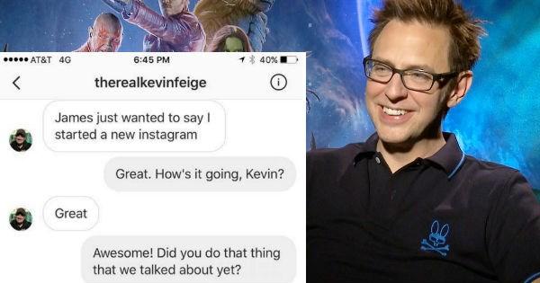James Gunn trolls a kid that pretends to be the Marvel Studios President, Kevin Feige.