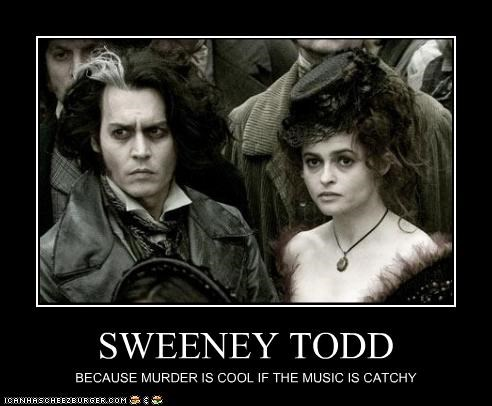 helena bonham-carter Johnny Depp movie musicals Music Sweeney Todd - 2507254016