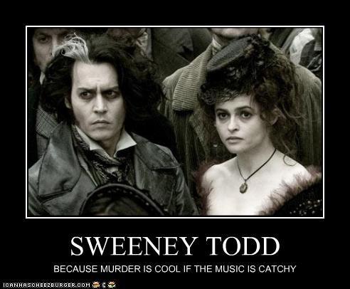 helena bonham-carter Johnny Depp movie musicals Music Sweeney Todd - 2507254016