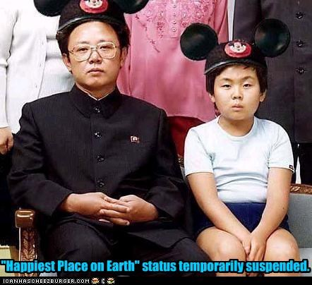 dictator,disney,happy,Kim Jong-Il,mickey mouse,North Korea