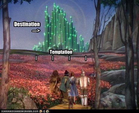 Destination ---> Temptation | | | |