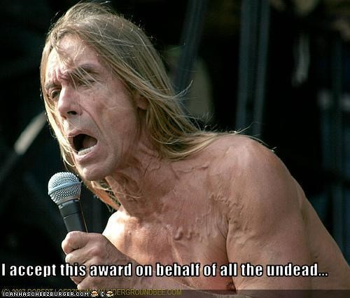Awards,iggy pop,Music,undead,zombie