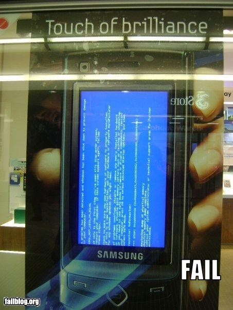 advertisement blue screen of death cell phones g rated - 2519111680