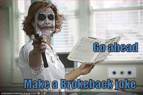 brokeback mountain heath ledger jokes movies the joker - 2520413952