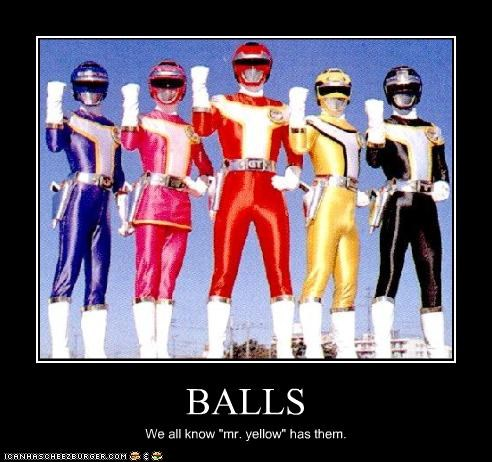 balls,Mighty Morphin Power Rangers