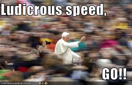 catholics,driving,fast,Pope Benedict XVI,religion