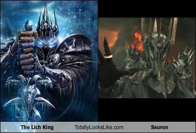 The Lich King Totally Looks Like Sauron Cheezburger Funny Memes