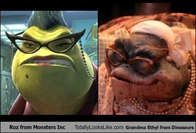 Roz from Monsters Inc Totally Looks Like Grandma Ethyl from