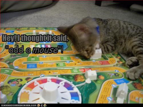 """Hey! I thought it said, mouse """"add a mouse""""!"""