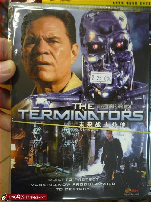 g rated,mankind,Movie,pirated dvd,terminator
