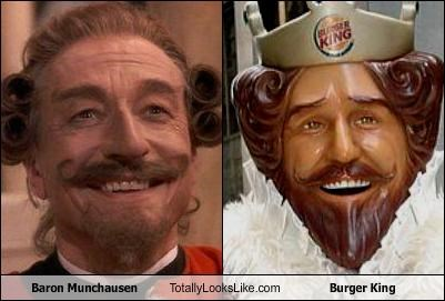 baron munchausen,fast food,movies,the burger king