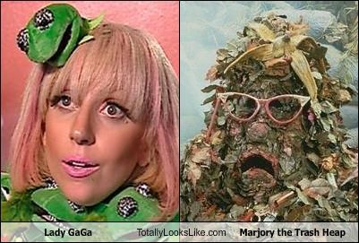 costume,fraggle rock,kermit the frog,lady gaga,majory the trash heap,muppets