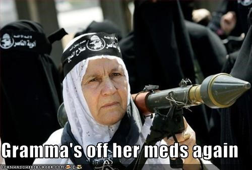 elderly fight missile muslims