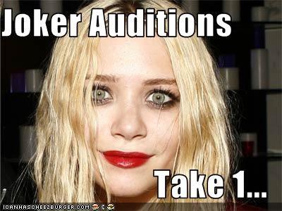 fun with makeup lipstick Mary Kate Olsen the joker - 2537296384