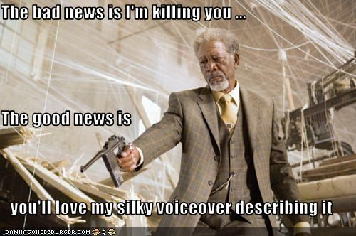 killer,Morgan Freeman,movies,narrator,voice over