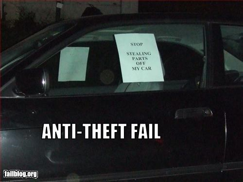anti-theft cars deterrent g rated letter note signs theft - 2538228480