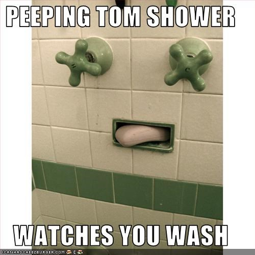 Very Peeping Tom Shower