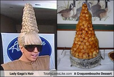 Lady Gaga's Hair Totally Looks Like A Croquembouche Dessert