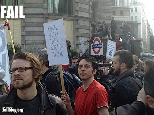 g rated Protest protesters signs UK win - 2542513664