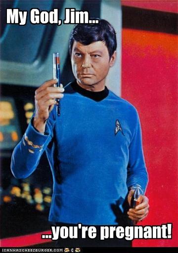bones,DeForest Kelley,dr-mccoy,pregnant,sci fi,Star Trek