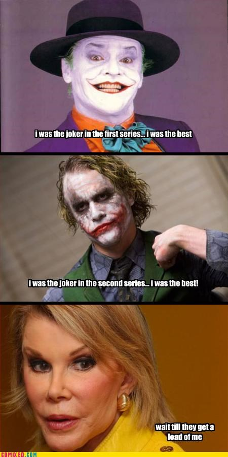 heath ledger,jack nicholson,joan river,joker