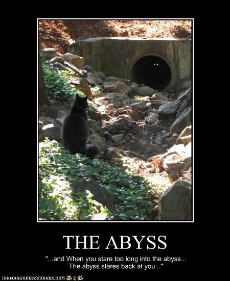 "THE ABYSS ""...and When you stare too long into the abyss... The abyss stares back at you..."""