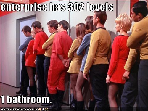 bathroom sci fi Star Trek starship enterprise waiting