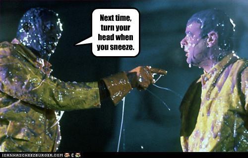 dan aykroyd ernie hudson Ghostbusters movies sneeze snot - 2553546496