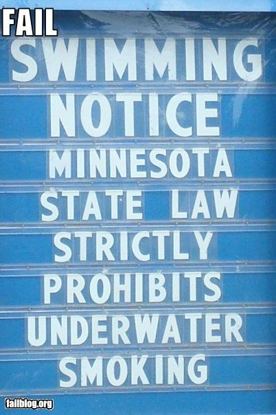 g rated Minnesota prohibit signs smoking state law swimming underwater - 2553926400
