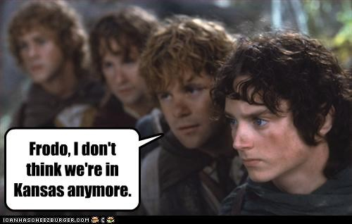 Middle Oz Frodo, I don't think we're in Kansas anymore.