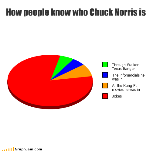 chuck norris,infomercial,jokes,kung fu,movies,Pie Chart,TV,walker texas ranger