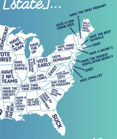 Google answers to what people think about each state in the US